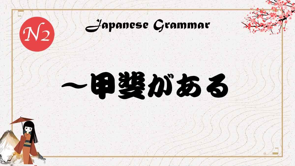 JLPT N2 文法 甲斐 使い方